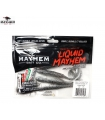 LIQUID MAYHEM THRUST SWIM MINNOW SMOKE M/F PEARL BELLY LAM 5'' 5PK