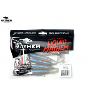 LIQUID MAYHEM THRUST SWIM MINNOW ALEWIFE LAM 5'' 5PK