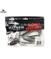 LIQUID MAYHEM THRUST SWIM MINNOW SMOKE M/F PEARL BELLY LAM 3.50'' 7PK
