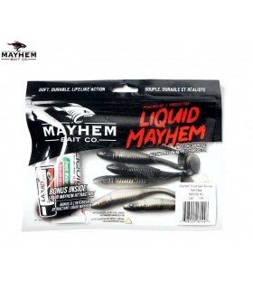 LIQUID MAYHEM THRUST SWIM MINNOW REEL SHAD 3.50'' 7PK