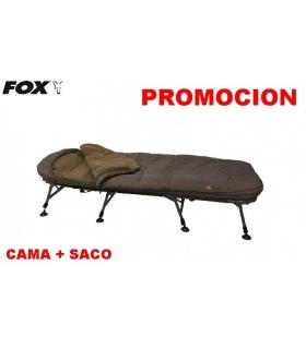 OFERTA CAMA + SACO FOX FLATLINER 8 LEG - 5 SEASON SYSTEM