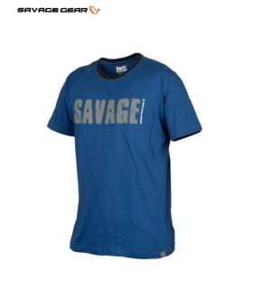 SAVAGE GEAR SIMPLY SAVAGE TEE BLUE TALLA S
