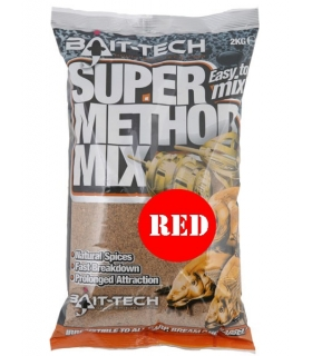 BAIT-TECH SUPER METHOD MIX RED 2KG