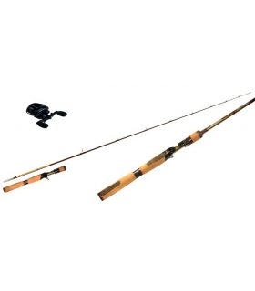 COMBO CAÑA PEZON MICHEL SPECIALIST PRO SERIES 6'6'' ML + CARRETE HART ABSOLUT METAL BLACK 5.1.1 CASTING