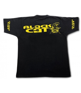 BLACK CAT CAMISETA NEGRA MAGA CORTA TALLA: XL