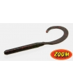 ZOOM CURLY TAIL WORM BLACK RED GLITTER