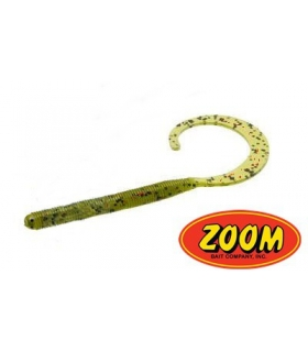 ZOOM CURLY TAIL WORM GREEN PUMPKIN